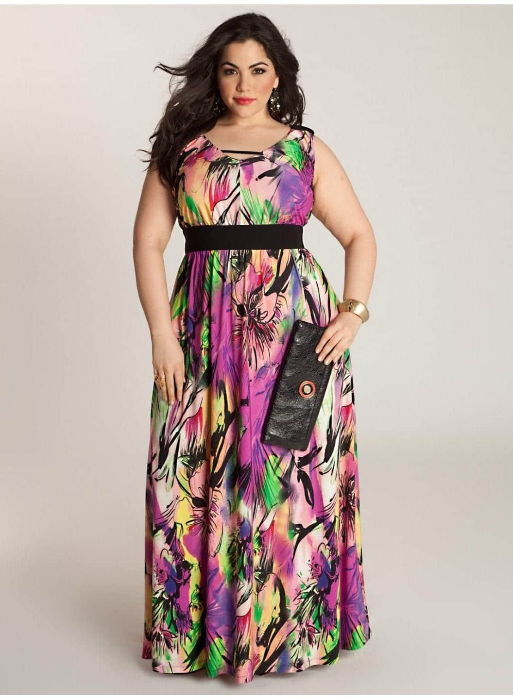 Plus-Size-Maxi-Dresses-For-Spring-Summer-2014-6 Apple Shape Body Outfits-19 Fashion Tips for Apple Figure