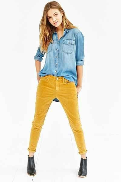 Beautiful Corduroy Pants Style For Women 16 Outfits For Every Women