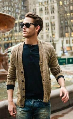 cardigan-309x500 College Guy Outfit-20 Trendy Outfits for College Guys