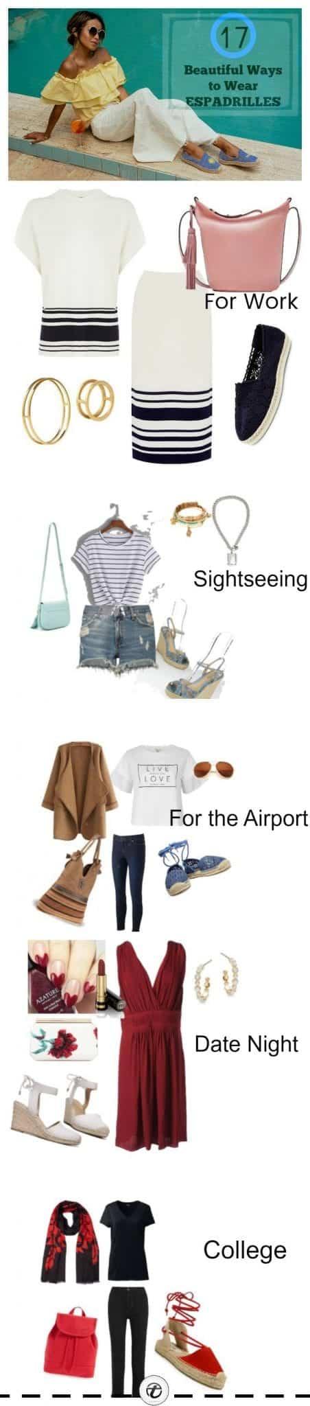different-ways-to-wear-espadrilles-for-women Outfits With Espadrilles–17 Ideas How To Wear Espadrilles