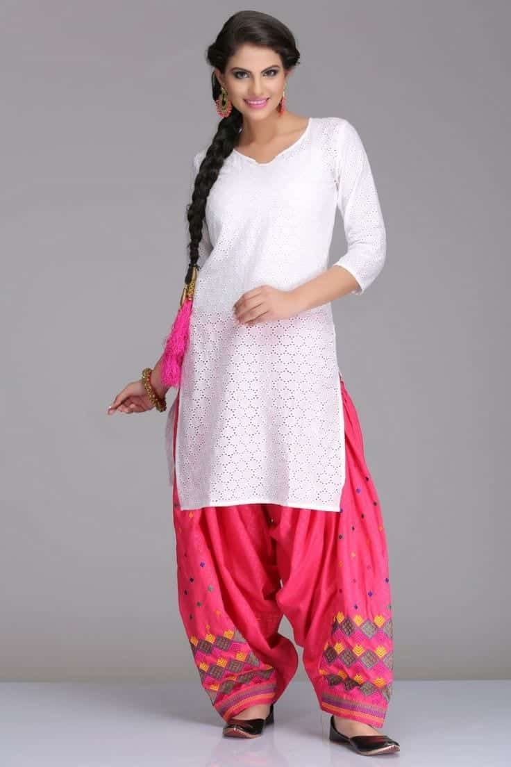 patiala shalwar kameez style