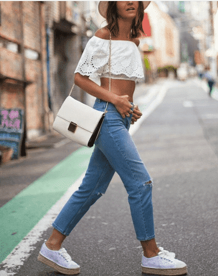 espadrille-outfit-with-jeans Outfits With Espadrilles–17 Ideas How To Wear Espadrilles