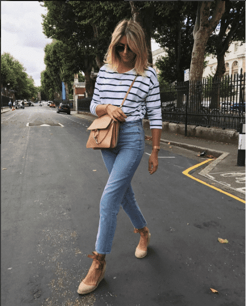 espadrilles-with-striped-shirt Outfits With Espadrilles–17 Ideas How To Wear Espadrilles