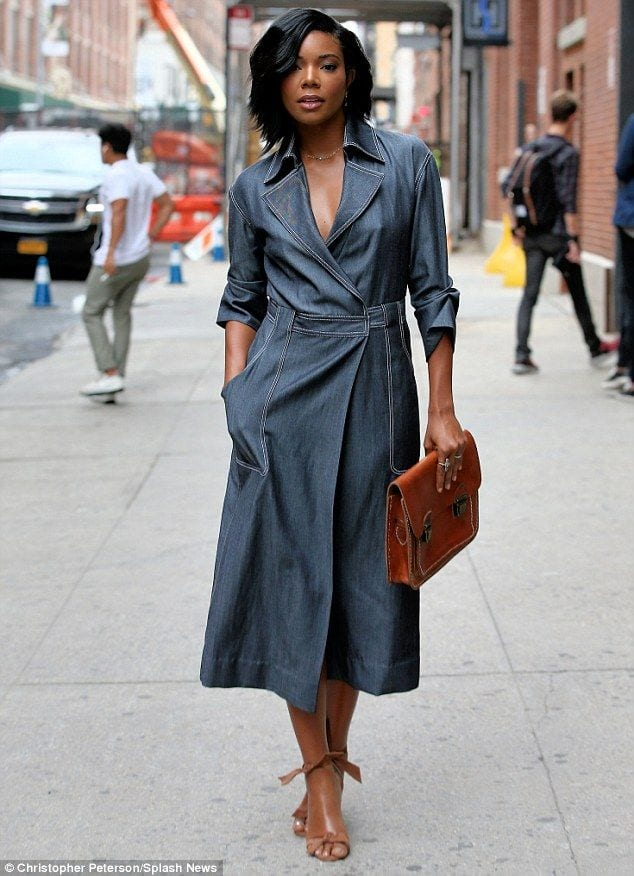 gabrielleunion 20 Great Ways to Rock A Braless Look - How to go Braless