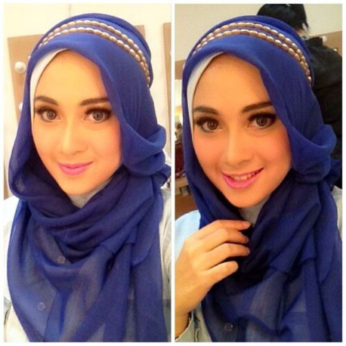 Hijab fashion style With Accessories