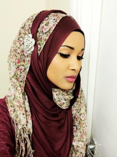 Plain and Printed  hijab fashion Style