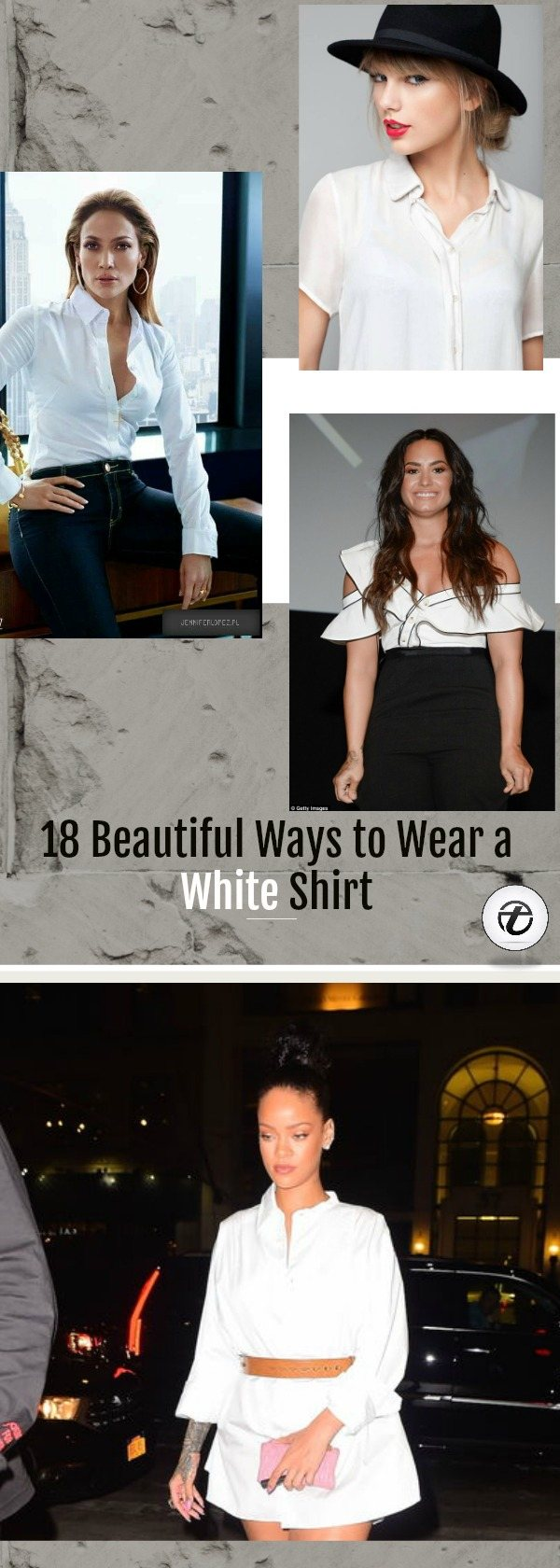 how-to-wear-a-white-shirt-for-girls 18 Ideal Girls Outfits with White Shirts for Glamorous look