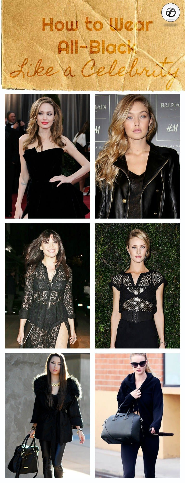 how-to-wear-all-black-like-a-celebrity 25 Celebrities All Black outfits Styles for Fall to Copy