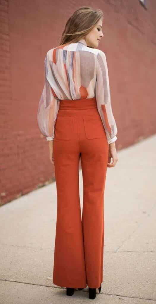 pants16-525x1024 High Waisted Pants Outfits-20 Ways To Wear High Waisted Pants