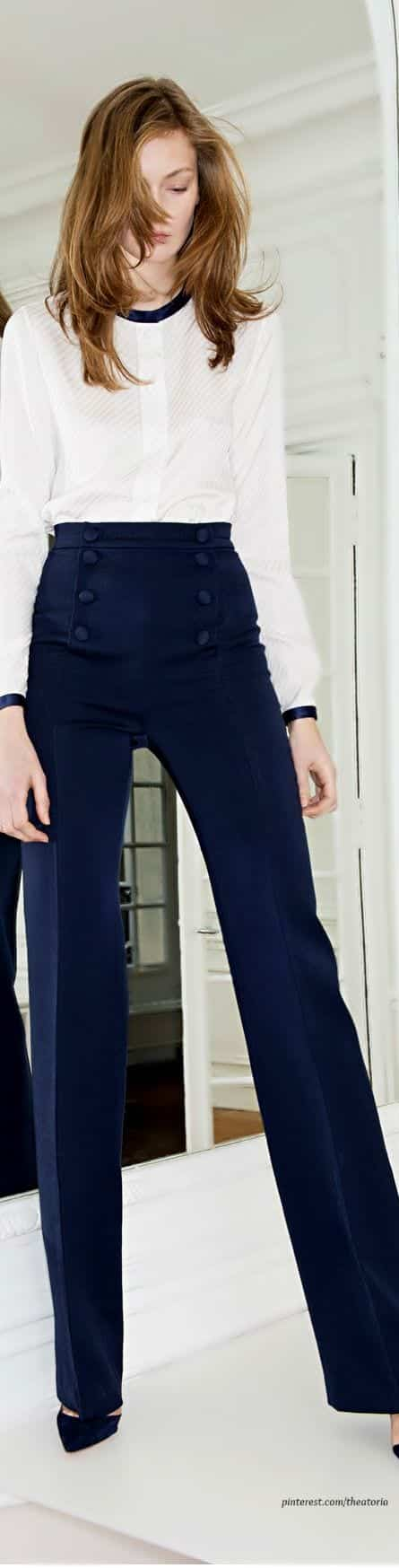 sailor-pants-style Sailor Pant Outfits-17 Ways to Wear Sailor Pants Fashionably