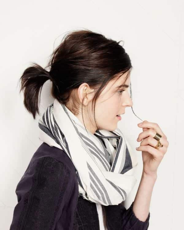 short-ponytail 17 Cute College Outfits for Short Height Girls to Look Tall