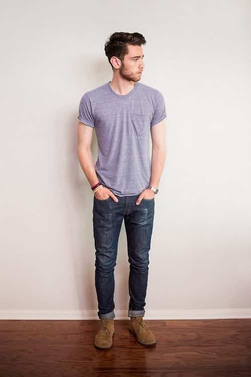 tee-and-pants College Guy Outfit-20 Trendy Outfits for College Guys