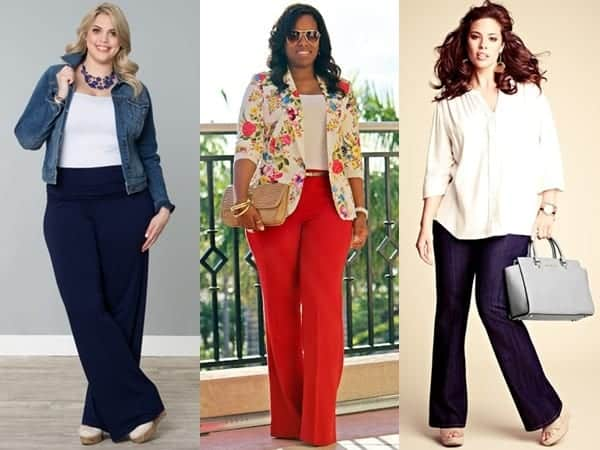 Flare-Pants-Fashion-For-Round-Body-Shape Outfits with Bell Bottom Pants-23 Ways to Wear Bell Bottom