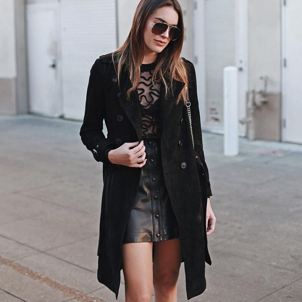 LS14-1024x1024 Leather Skirt Outfit Ideas - 20 Ways to Wear Leather Skirts