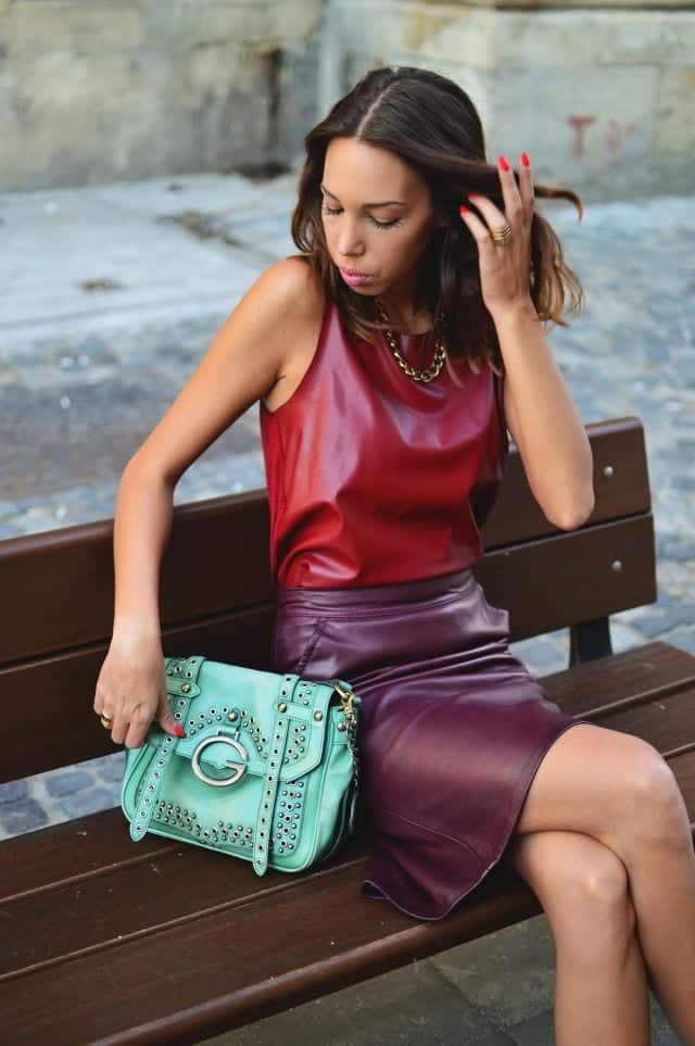 LS20 Leather Skirt Outfit Ideas - 20 Ways to Wear Leather Skirts