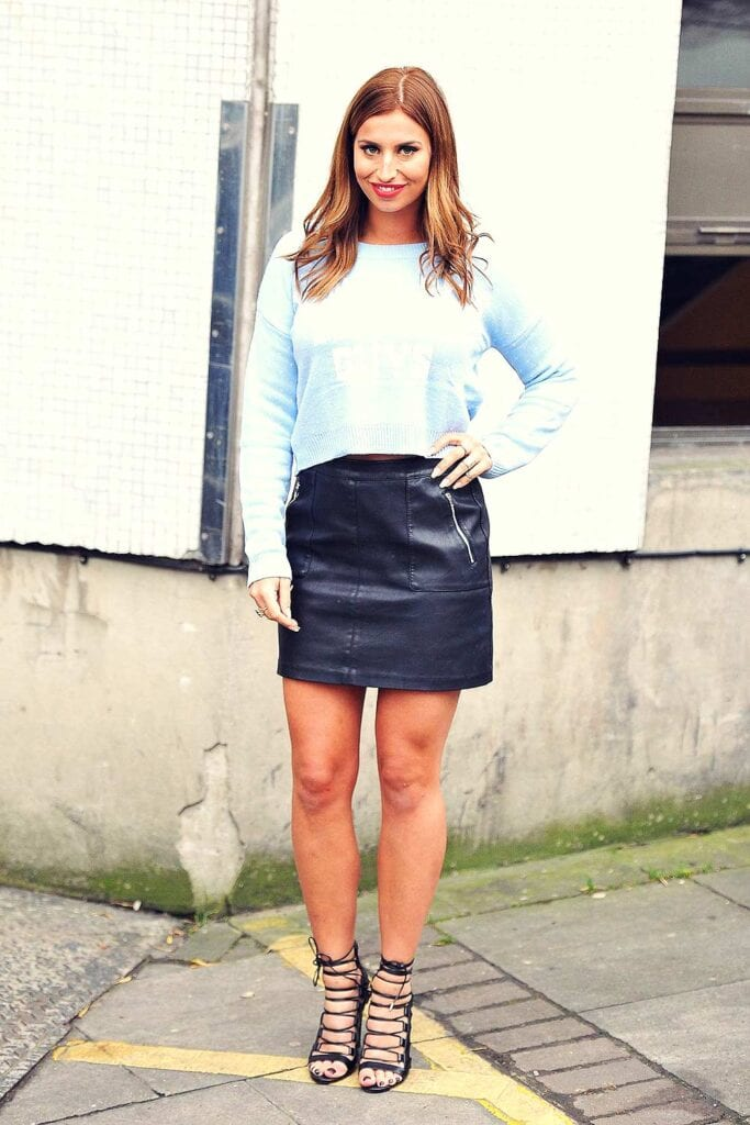 LS6-683x1024 Leather Skirt Outfit Ideas - 20 Ways to Wear Leather Skirts