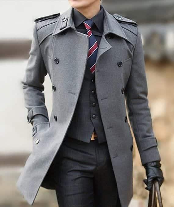 Men Long Coat Styles-20 Best Outfits To Wear Long Down Coat