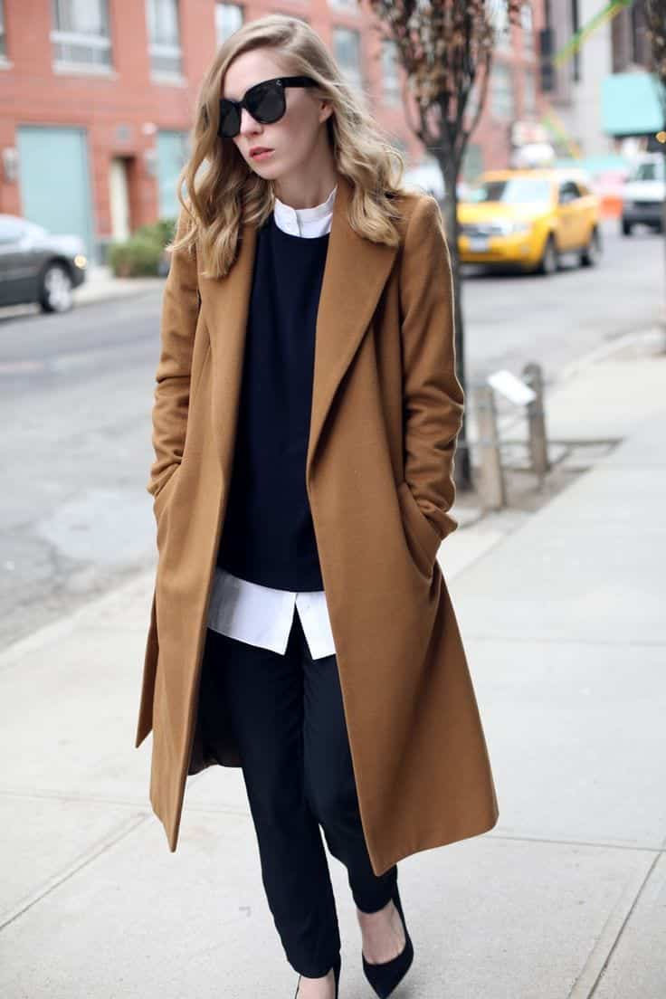 ideas to wear camel coats (15)