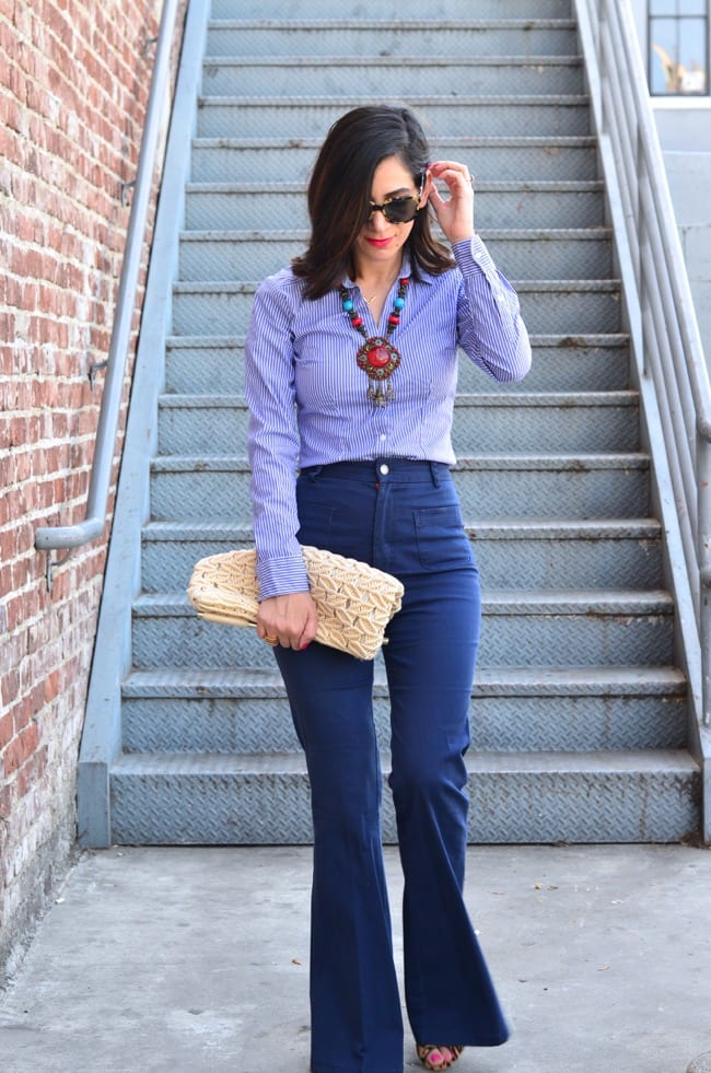 bell-bottoms Outfits with Bell Bottom Pants-23 Ways to Wear Bell Bottom