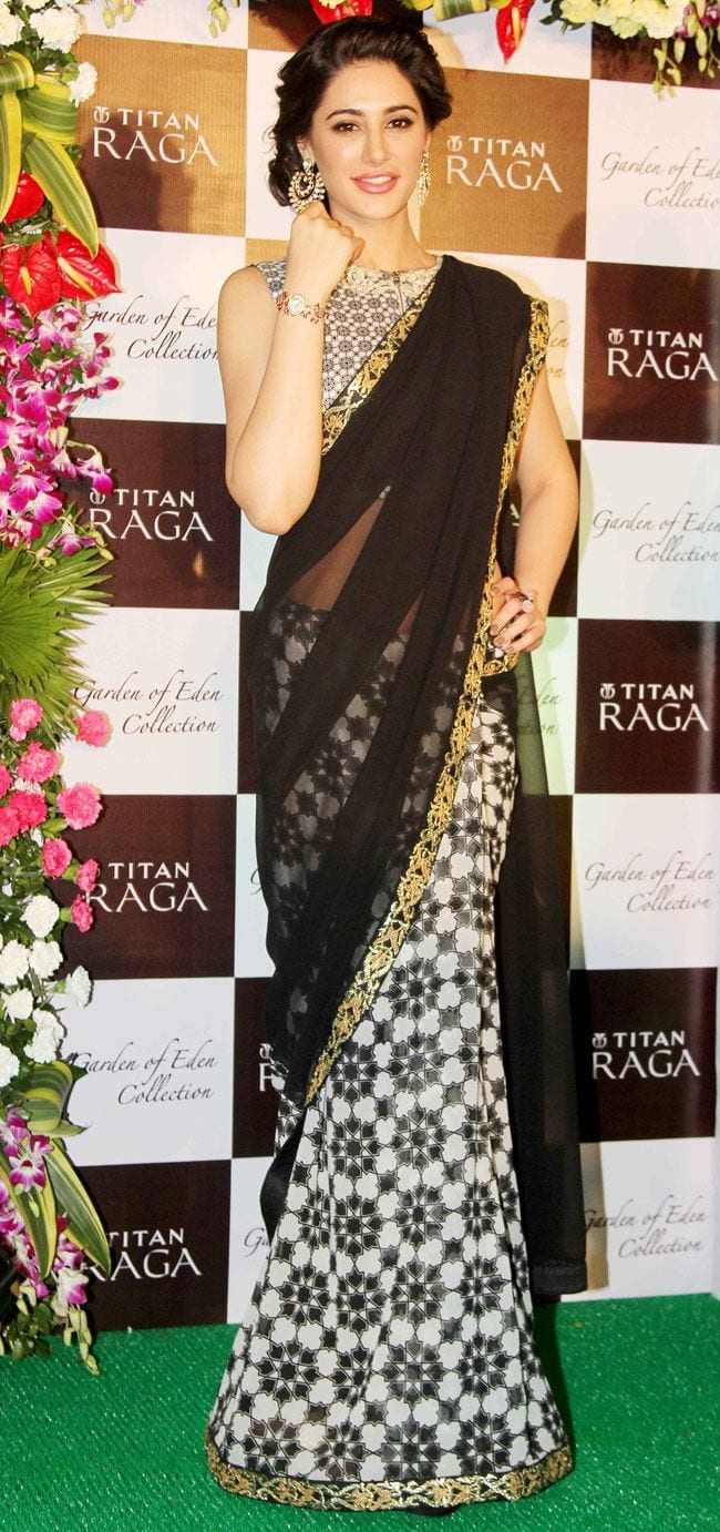 nargis fakhri in saree pics