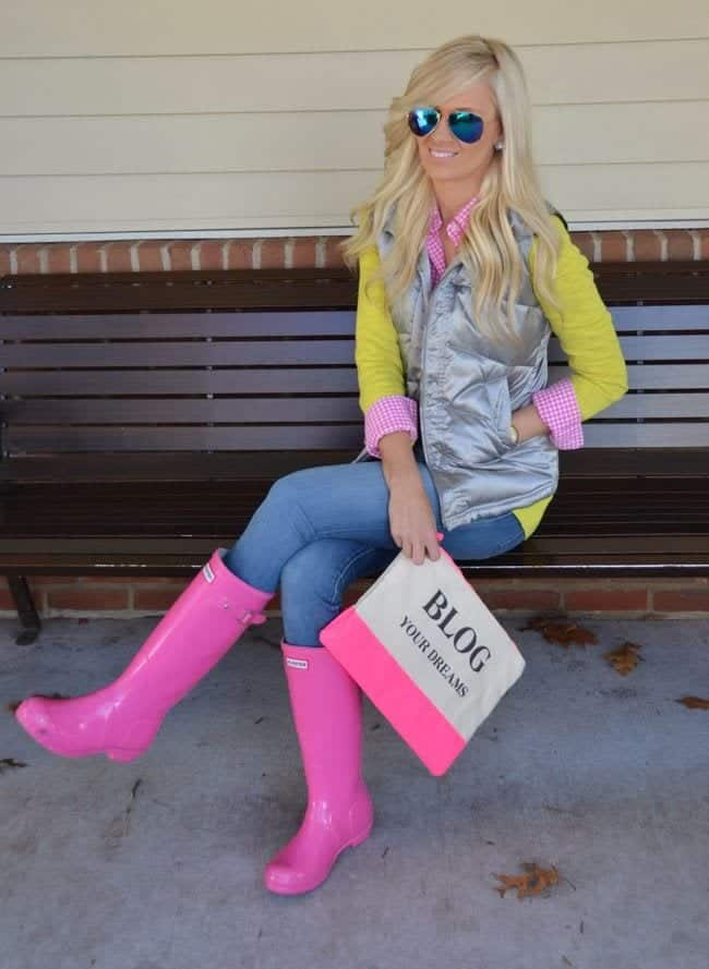 how-to-style-hunter-boots-111 Outfits with Hunter Boots-20 Ways to Wear Hunter Boots