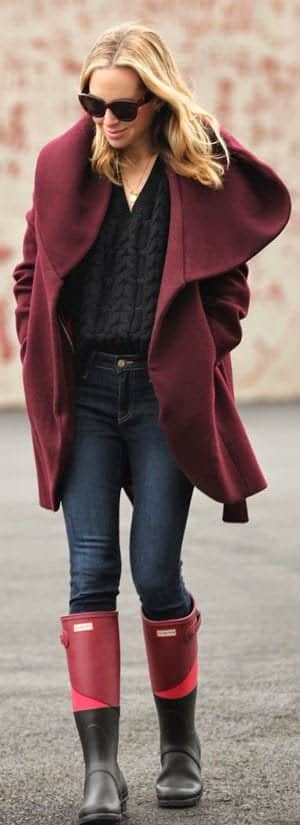 how-to-style-hunter-boots-18 Outfits with Hunter Boots-20 Ways to Wear Hunter Boots