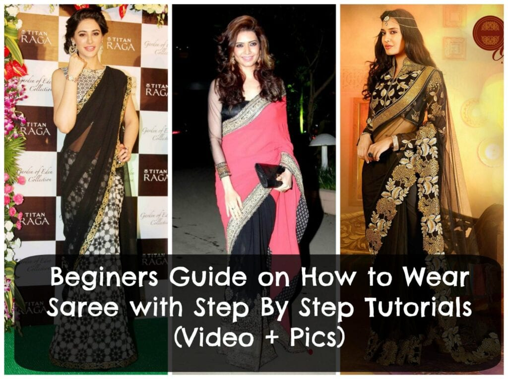 simple-steps-to-wear-saree-tutorial-1024x764 How to Wear Saree Tutorial-Step By Step Guide to Drape Saree