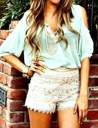 High waisted short outfits for girls 9