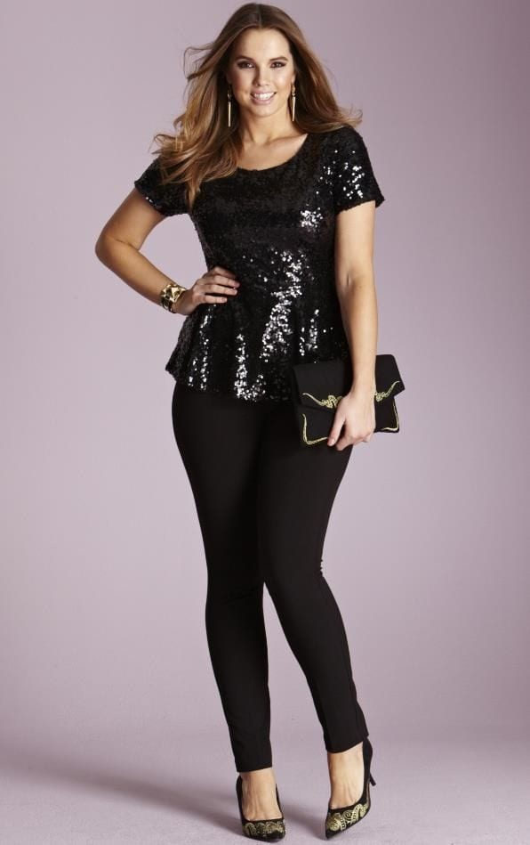 5-glamorous-christmas-outfits-for-plus-size-girls 18 Plus Size Sequin Outfits-How to Wear Sequin as Curvy Women