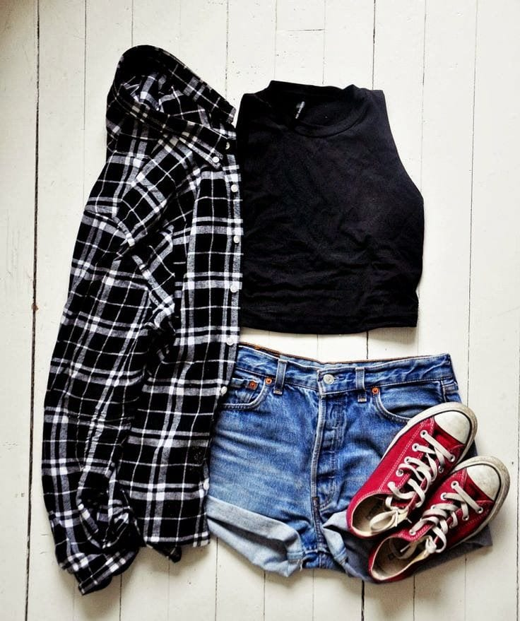 High waisted short outfits for girls 11