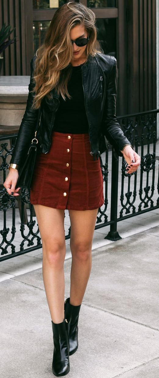 leather jacket outfits for girls (19)