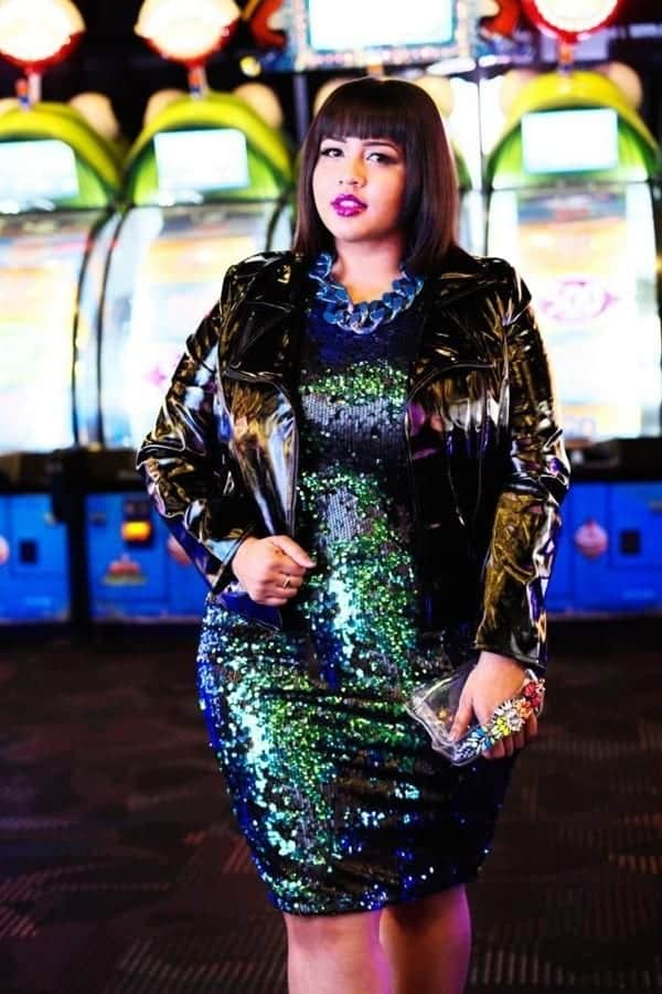 Curvy-girl-fashion-12 18 Plus Size Sequin Outfits-How to Wear Sequin as Curvy Women