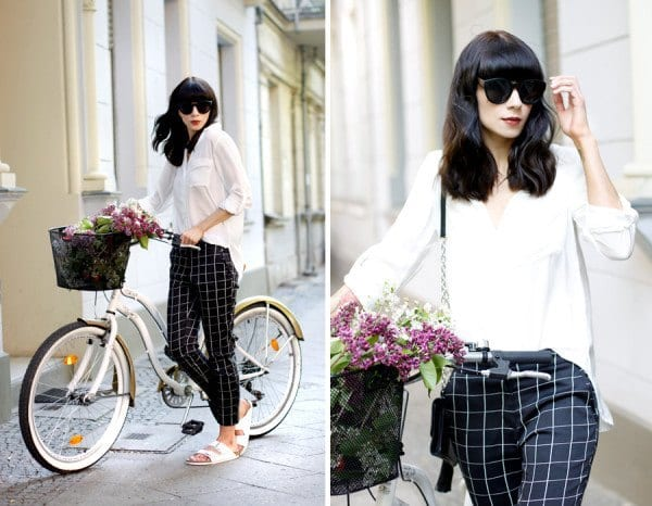 Looks-of-the-Week-Spring-Windowpane-Print-Pants-600x466 Printed Pants Outfits-17 Ideas On How To Wear Printed Pants