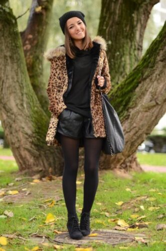 Lovely-Pepa-leopard-coat-630x951-331x500 Outfits with Leopard coats-20 Ideas to Style Leopard Print Coats