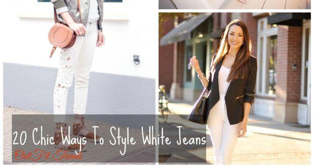Fashionable ways to wear white denim