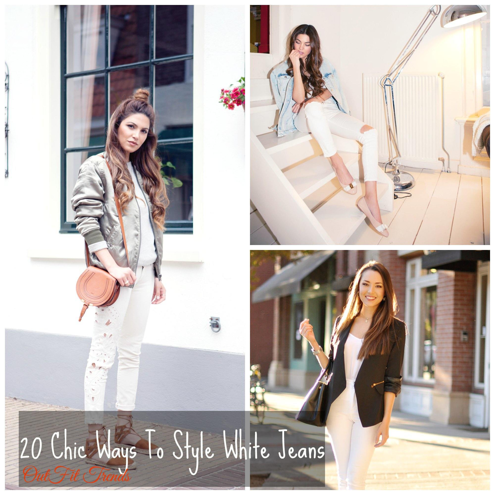 Fashionable ways to wear white denim