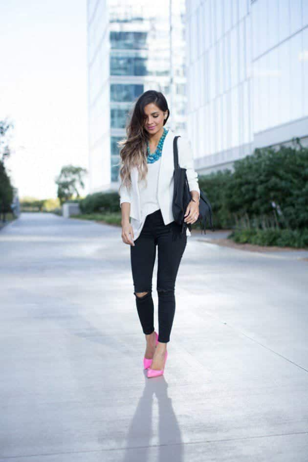 Pink-Heels-Kurt-Geiger-650x975-630x945 Outfits with Jeans-50 Best Looks with Jeans You can Have Now