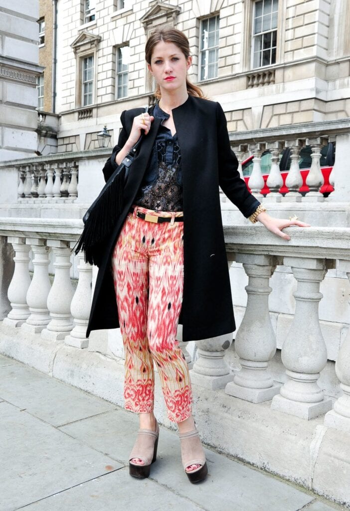 Printed-Pants-London-Milan-Fashion-Week-SS-12-7-702x1024 Printed Pants Outfits-17 Ideas On How To Wear Printed Pants