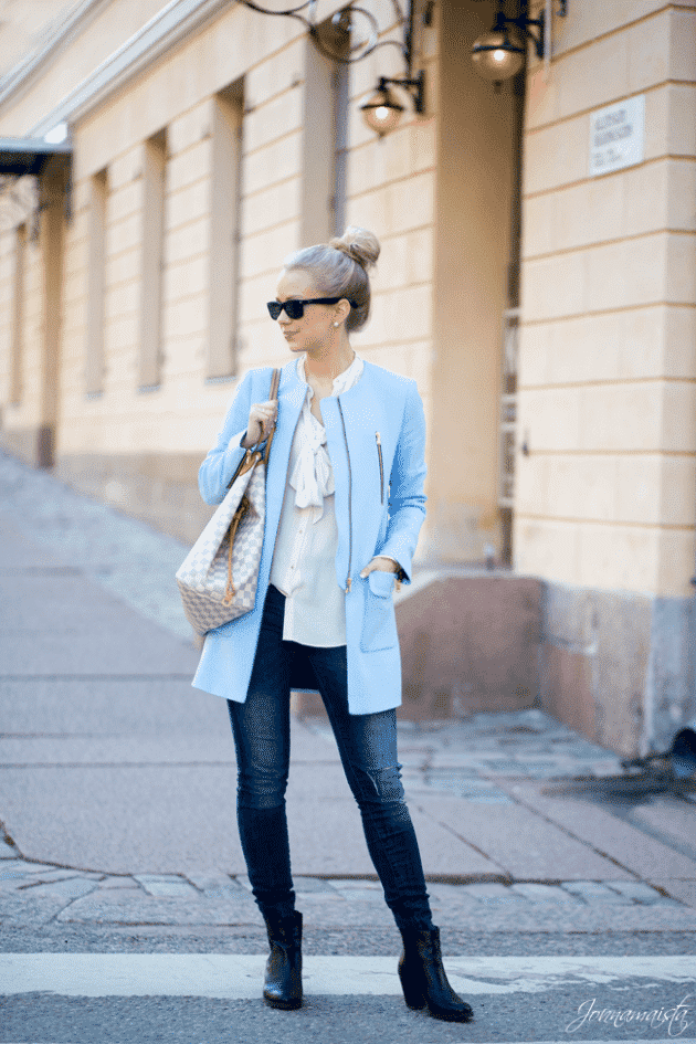 Tie-Neck-Blouses17 Outfits with Jeans-50 Best Looks with Jeans You can Have Now
