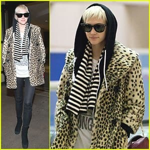 ashlee-simpson-leopard-print-coat-lax Outfits with Leopard coats-20 Ideas to Style Leopard Print Coats