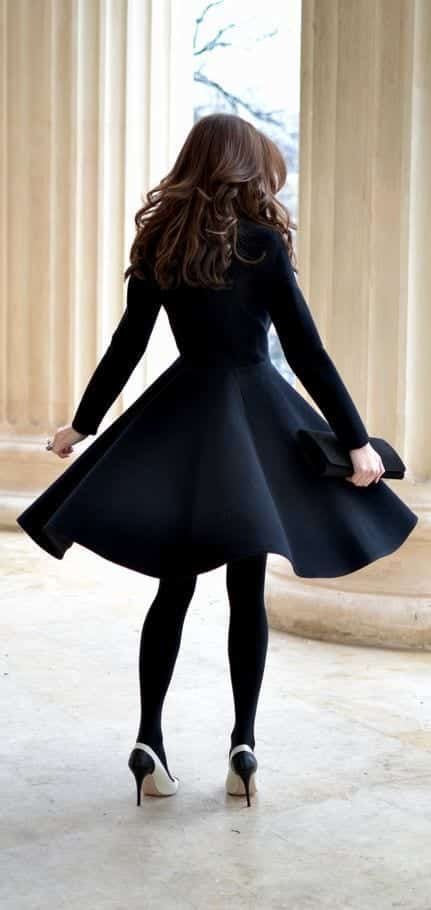 b13 Outfits with Black Tights-20 Ways to Wear Black Tights