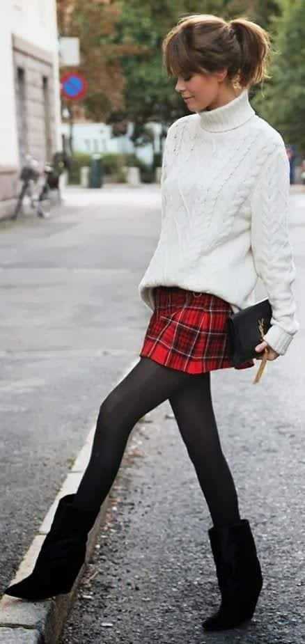 b14-1 Outfits with Black Tights-20 Ways to Wear Black Tights