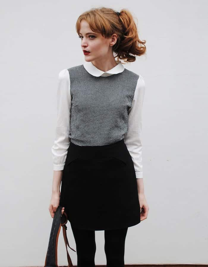 b9-2 Outfits with Black Tights-20 Ways to Wear Black Tights