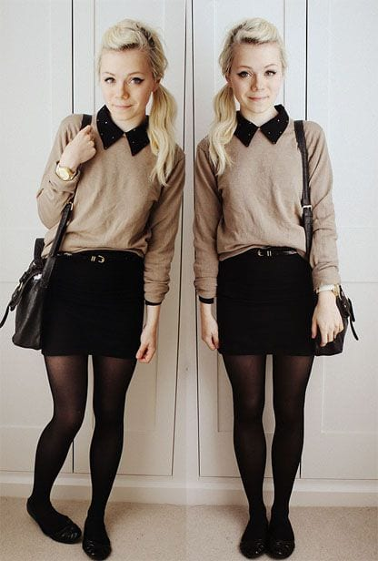 b9 Outfits with Black Tights-20 Ways to Wear Black Tights