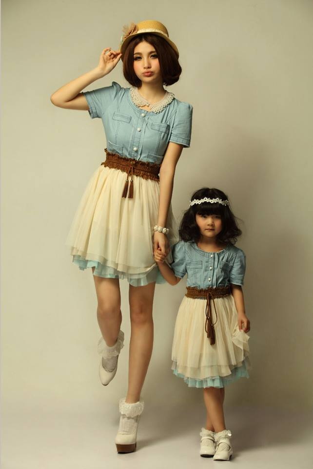 ccccccccc 100 Cutest Matching Mother Daughter Outfits on Internet So Far