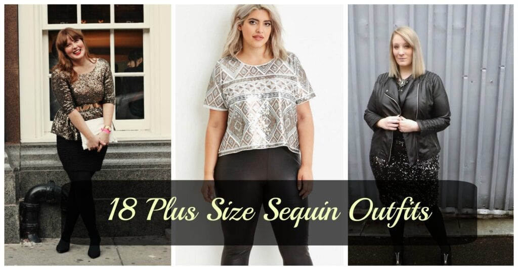 curvy-women-sequins-1024x534 18 Plus Size Sequin Outfits-How to Wear Sequin as Curvy Women