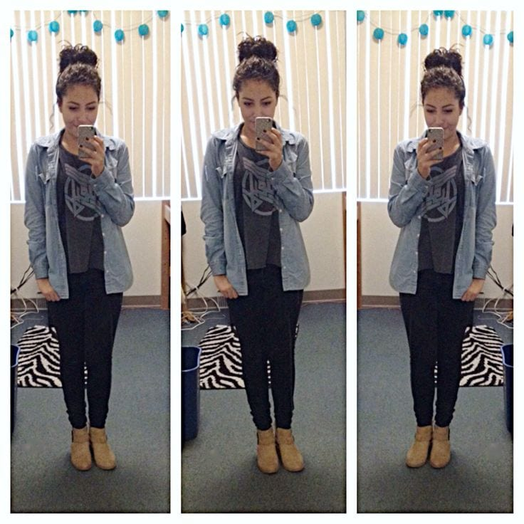 f2eb98a7dcd4160739708ee89d71f3bb 20 Cute Outfits with Top Bun Hairstyle to Compliment Style