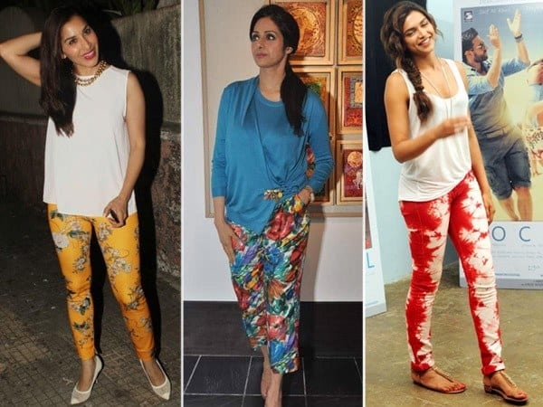 floral-print Printed Pants Outfits-17 Ideas On How To Wear Printed Pants
