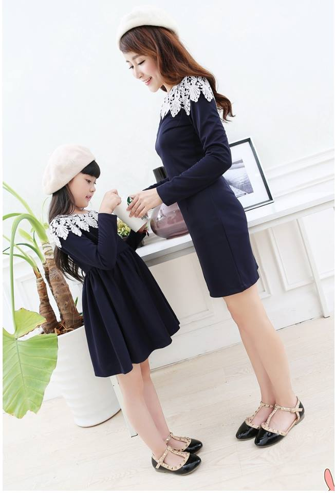 cute and matching outfits for mother and daughter (6)