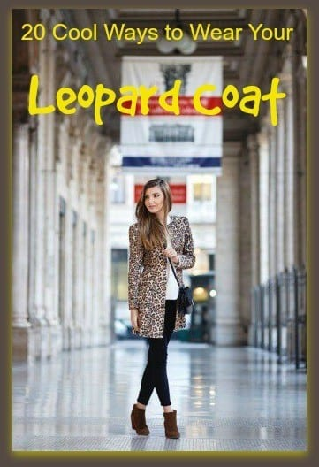 how to wear leopard coat